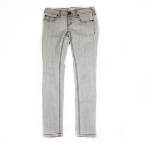 Free People   Grey Wash Skinny Jeans   28